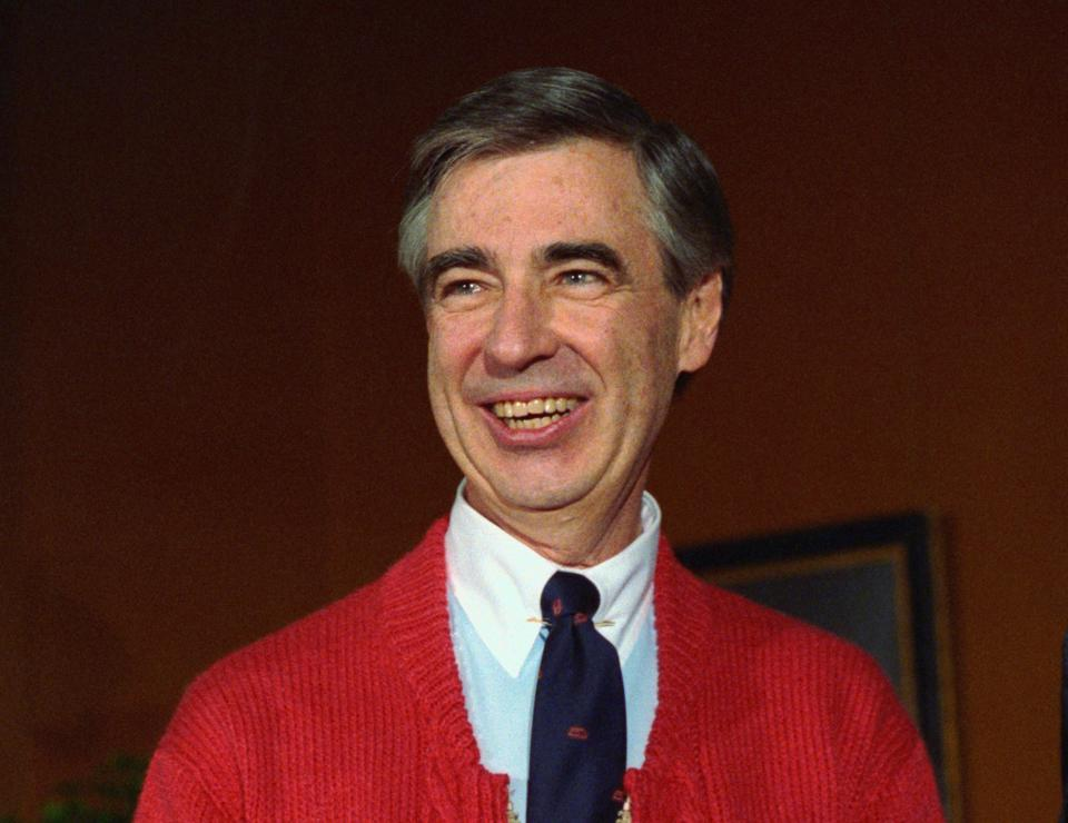 Fred Rogers, of Mister Rogers' Neighborhood, donates his famous red cardigan sweater to the National Museum of American History, Smithsonian Institution.