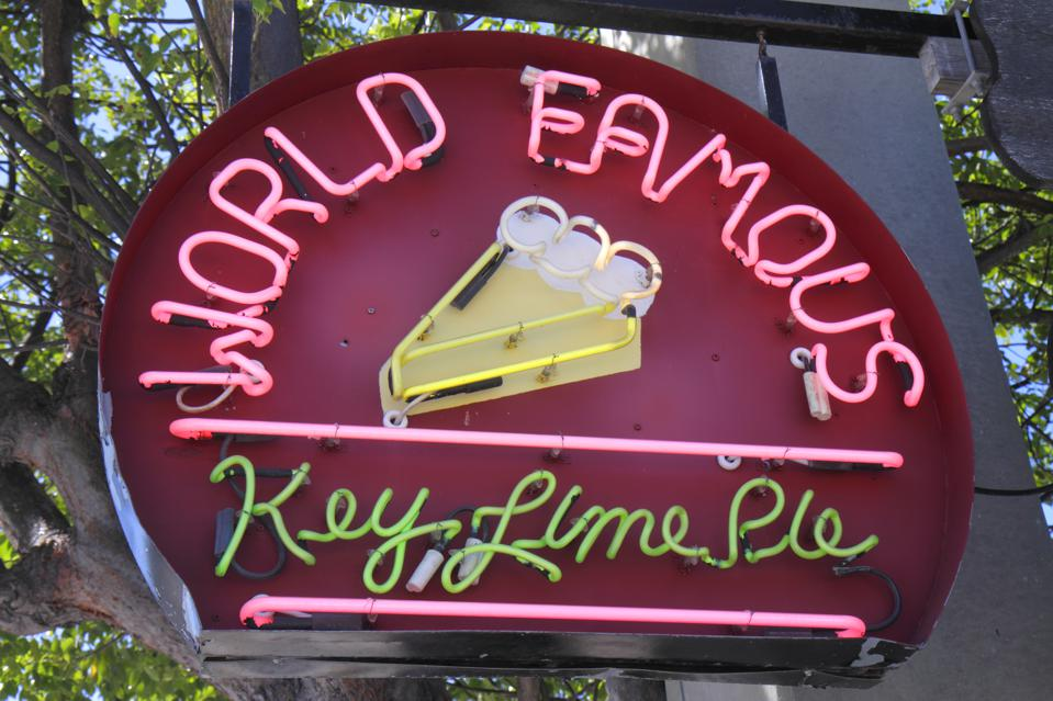 World Famous Key Lime Pie neon sign.