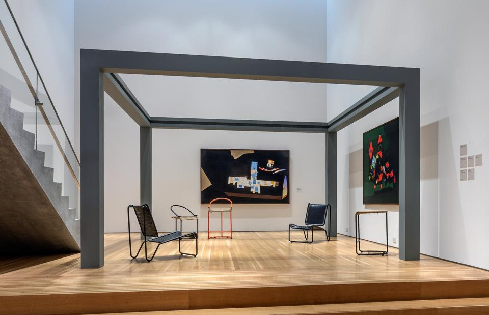 """Installation view of """"Balkrishna Doshi: Architecture for the People,"""" on view at Wrightwood 659. Photography by Michael Tropea. (c) 2020 Alphawood Exhibitions LLC. All Rights Reserved."""