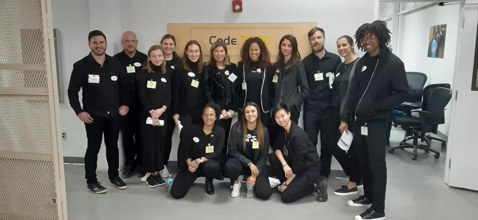 The West Ventures team after leading a pro bono workshop inside San Quentin prison.