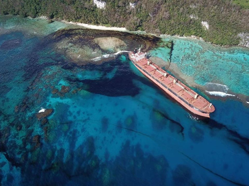 2019: The Solomon Trader mining bulk carrier (similar to the Wakashio) crashed into a UNESCO world heritage site in the Solomon Islands in the Pacific