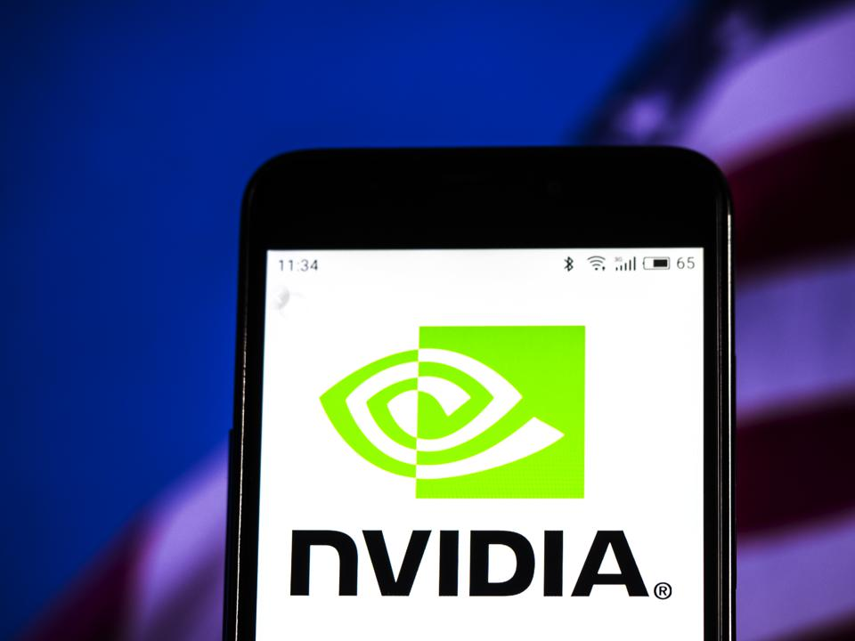 Nvidia Corporation logo seen displayed on smart phone.