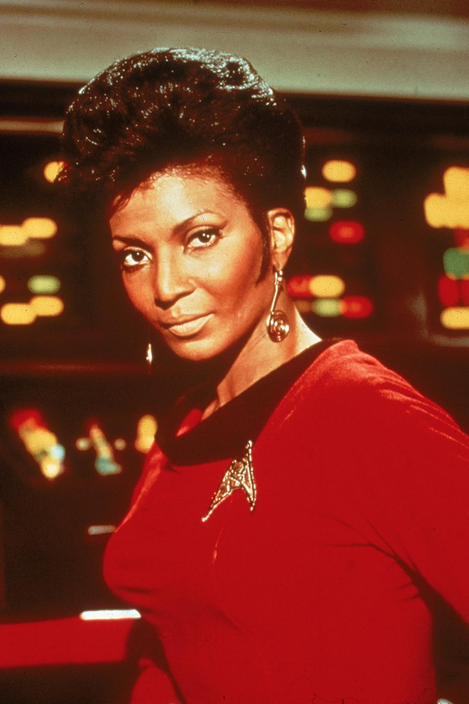 Nichelle Nichols as Uhura in 'Star Trek'