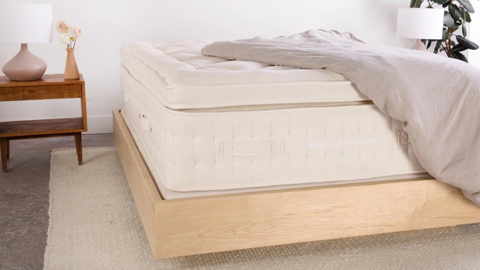 goop X Avocado mattress and frame