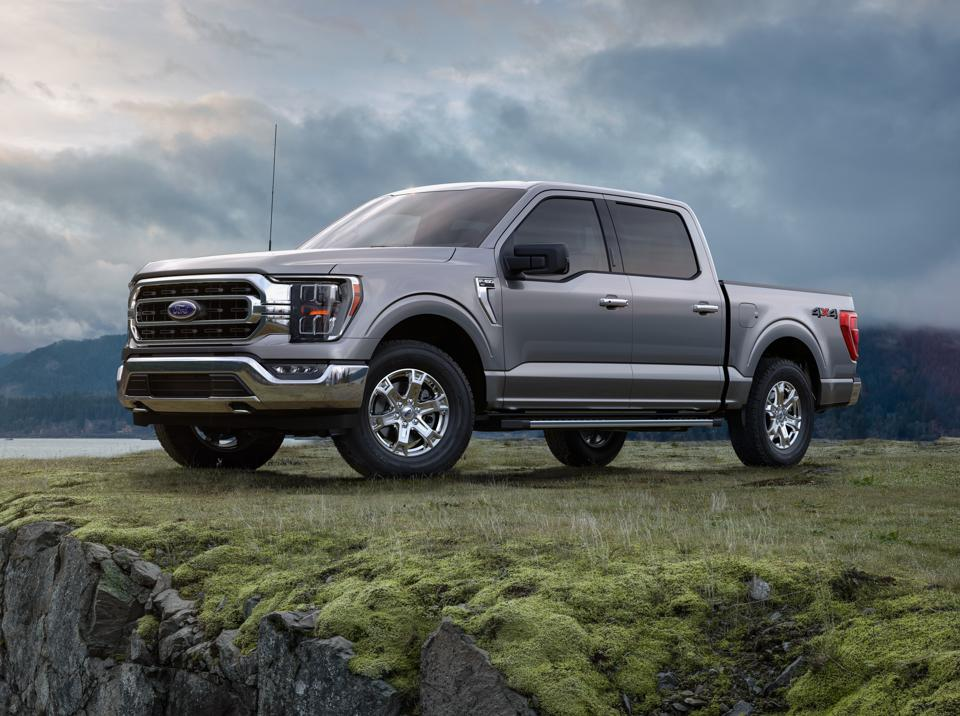 The all-new 2021 Ford F-150, in Iconic Silver color.