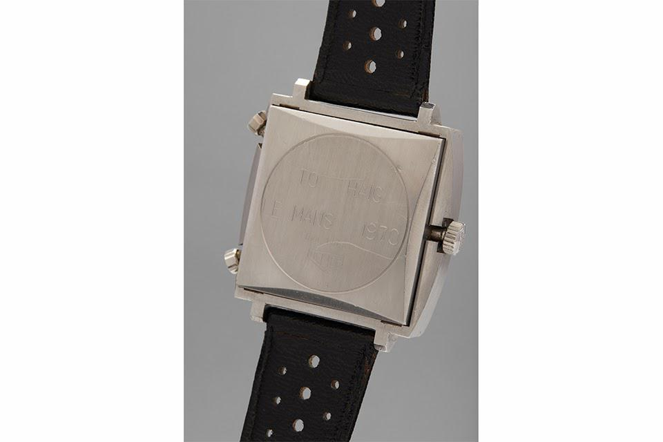 The engraving on the back of the watch