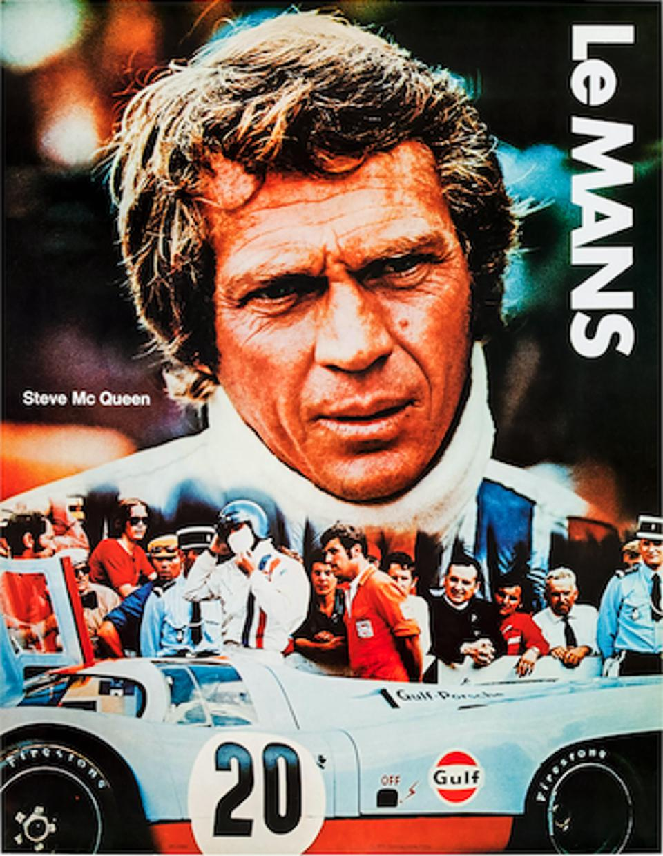 The movie poster shows Steve McQueen, with Haig Alltounian behind him.