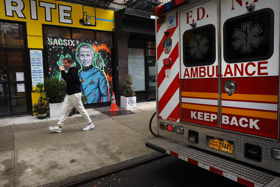 Mural Of NIAID Director Anthony Fauci Painted In Manhattan's East Village