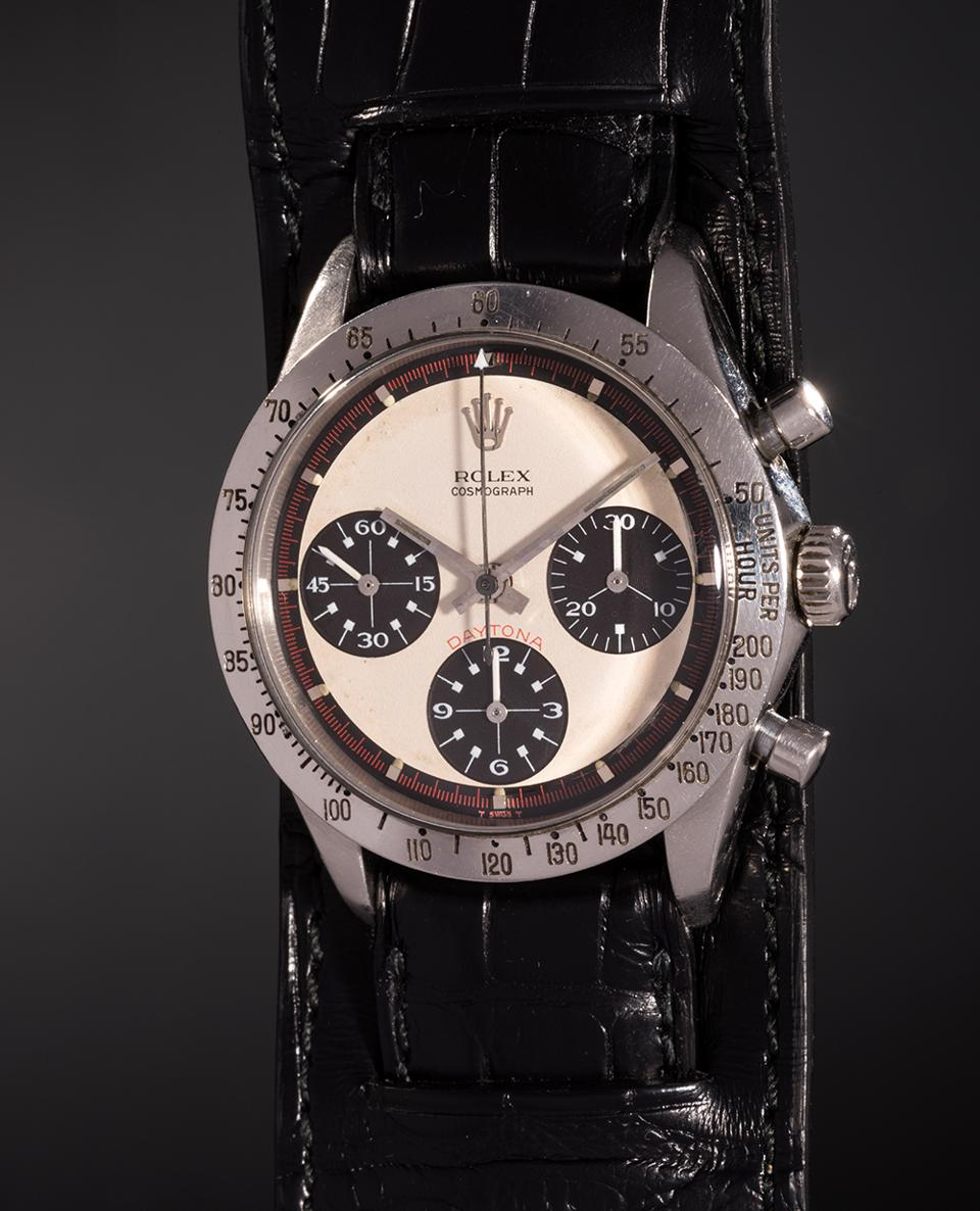 The Paul Newman-style Paul Newman Daytona (Ref. 6239), which sold in 2017 for $17.7-million.