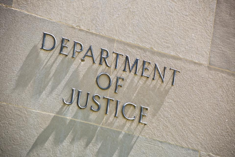 Justice Department building.