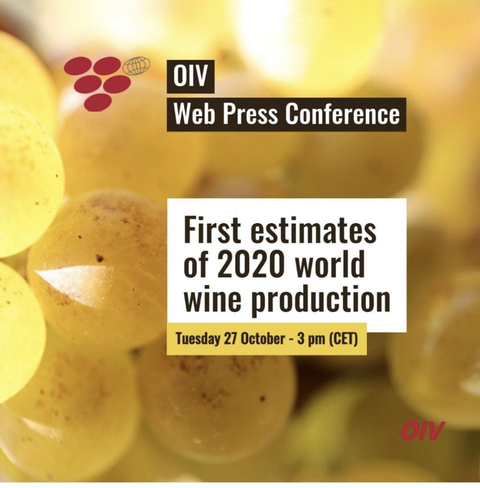 OIV Director General Pau Roca presented the first estimates of 2020 world wine production