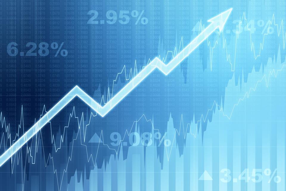 Financial chart, 3D Rendering