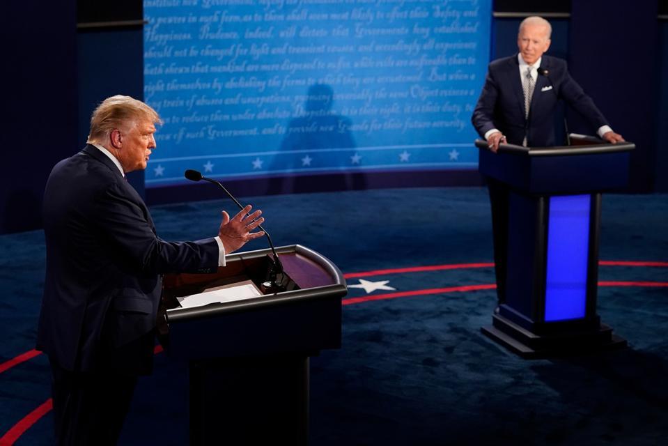 The first Presidential Debate between President Donald Trump And Democratic candidate Joe Biden