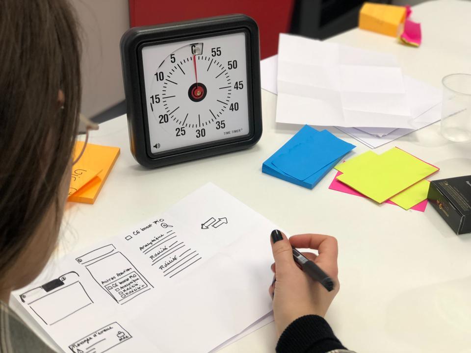 Timer on desk