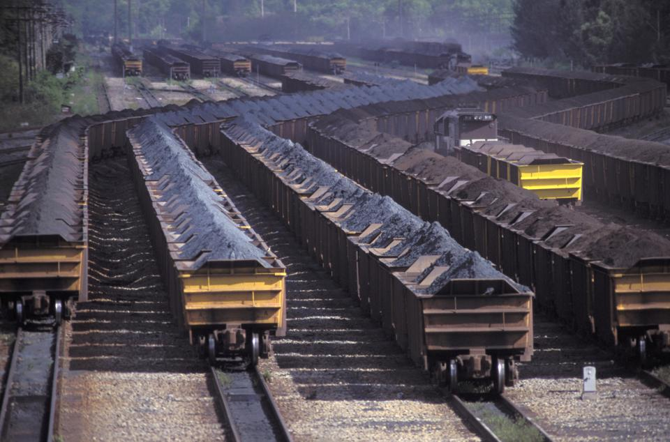 Tubarao Harbor, Brazil - where a cargo of iron ore for exportation in railway wagons was waiting for the Wakashio