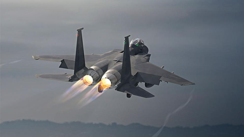 Boeing's new F-15EX can carry 29,500 pounds of weapons according to the company.