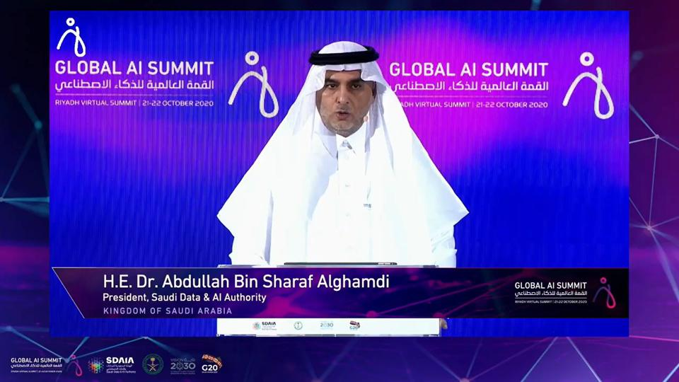 GlobalAISummit AI Dr. Abdullah Bin Sharaf Alghamdi Saudi Data & AI Authority