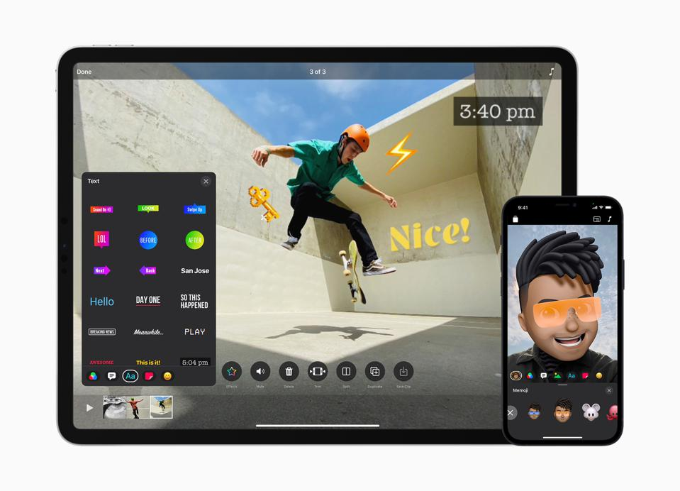 Cool effects in Apple Clips 3.0.
