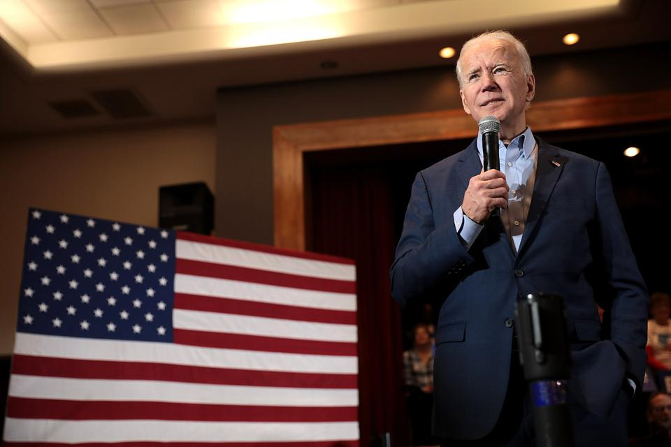 Joe Biden speaking during a campaign stop.