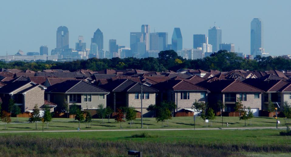 Suburbs in Dallas, Texas, USA.