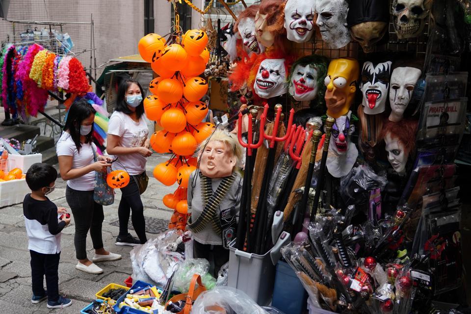 Halloween Preparations In Hong Kong