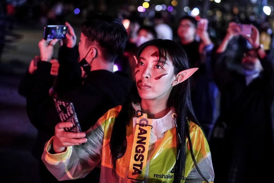People Celebrate Halloween In Wuhan After Outbreak Of Coronavirus