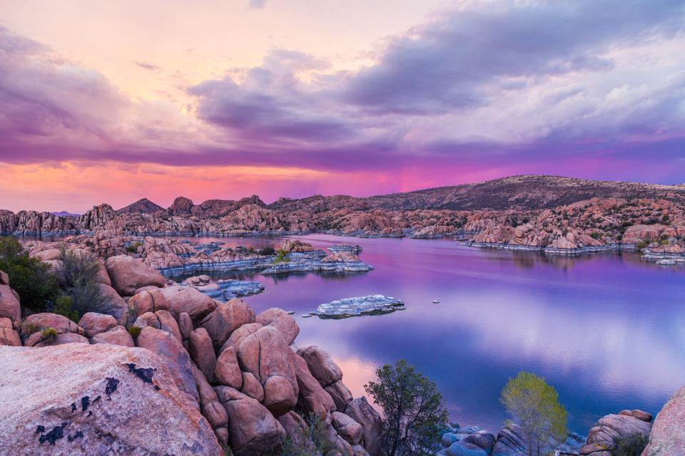 Watson lake Prescott Arizona Sunset