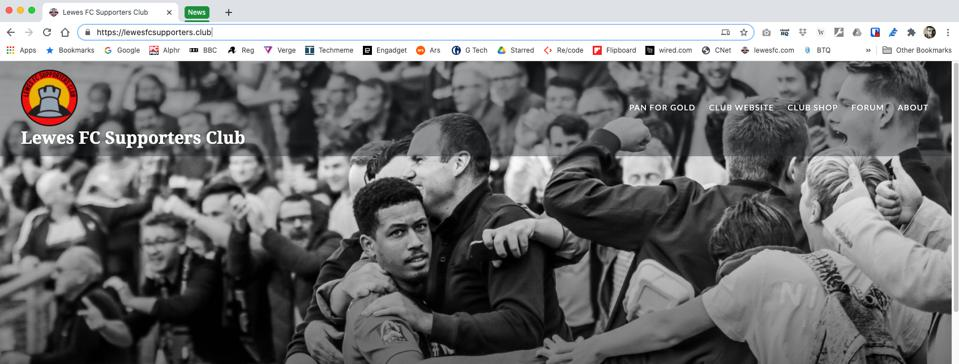 Chrome browser using tab groups