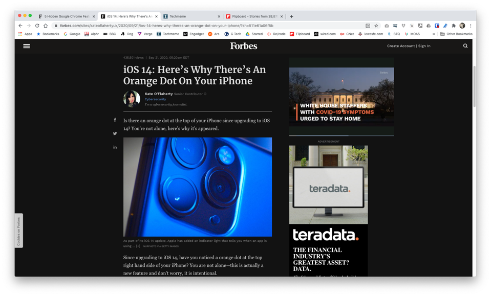 Forbes.com rendered in Chrome's dark mode
