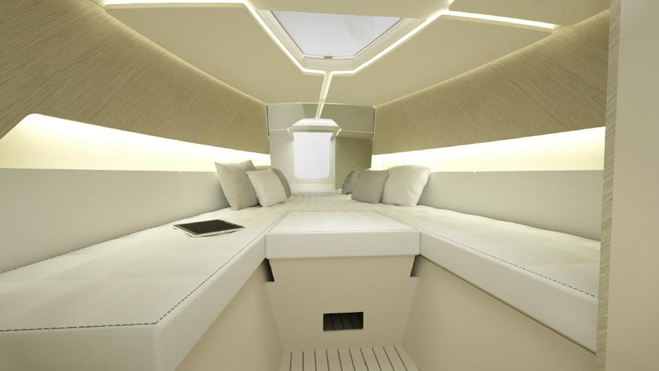 Boat cabin of the Iguana Yachts Commuter