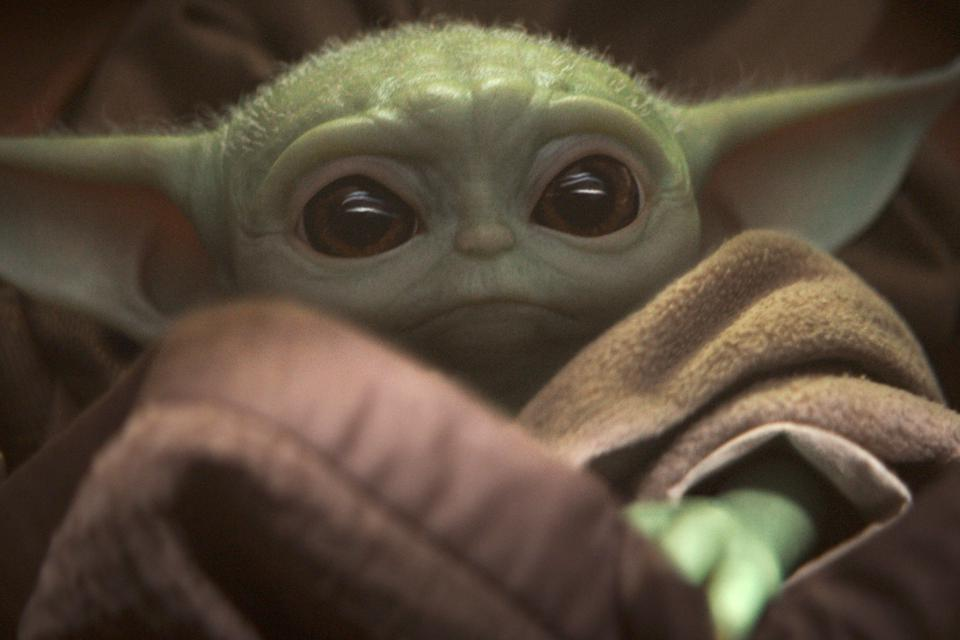 The Child (Baby Yoda) from 'The Mandalorian'.
