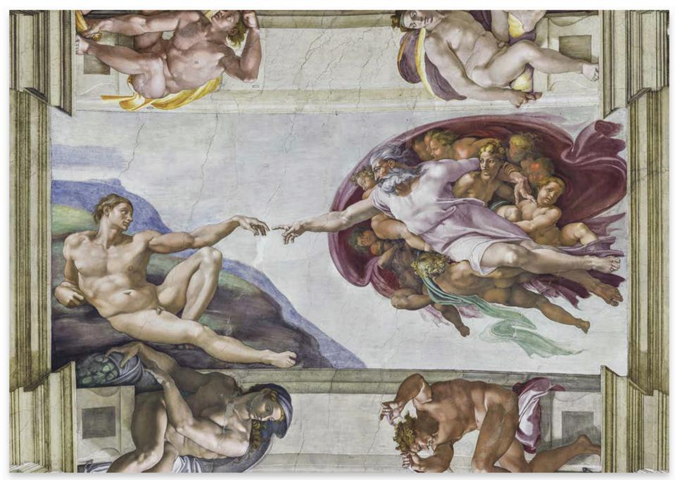 This new trilogy is the complete Sistine Chapel in book form