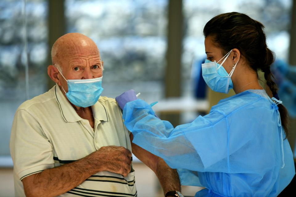 Flu Vaccine Drive During The Second Wave Of Coronavirus Pandemic In Las Rozas