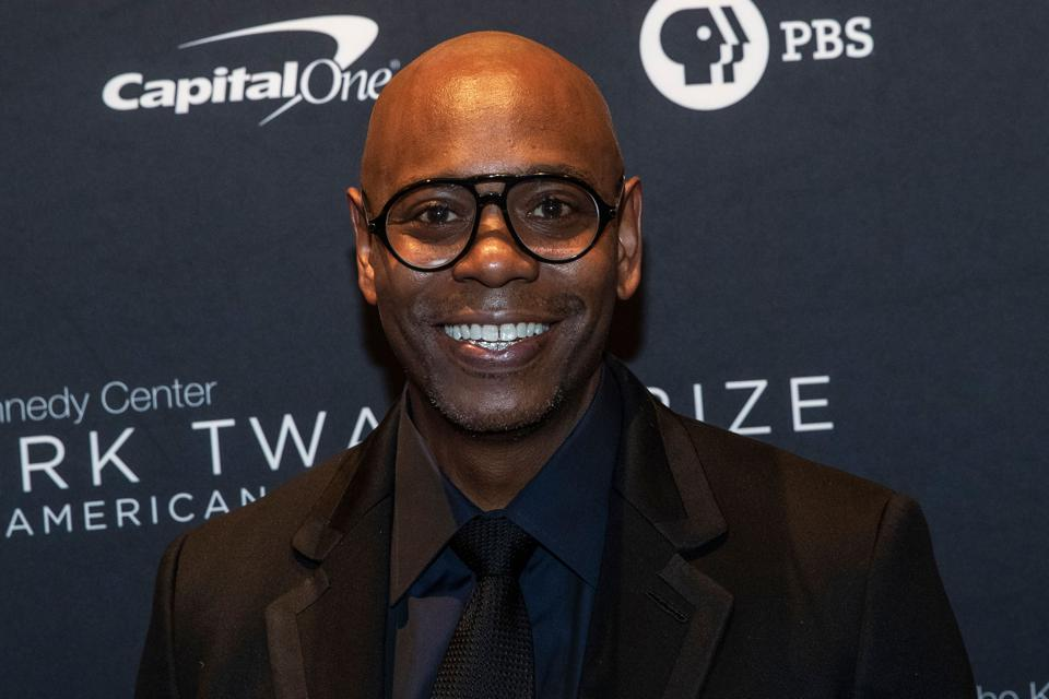 Comedian Dave Chappelle arrives at the Kennedy Center for Mark Twain award ceremony