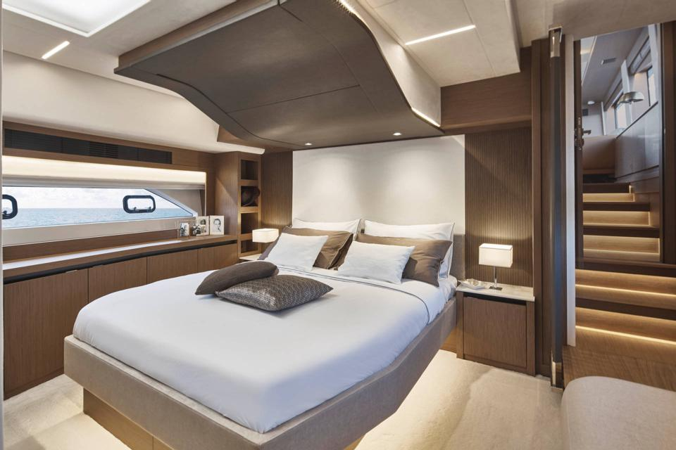Luxury living onboard the Prestige X70.