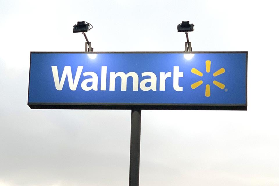 Walmart sign.