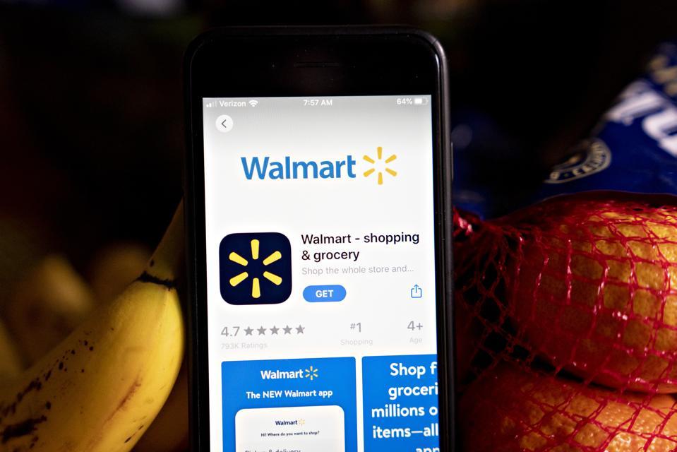 Walmart app.