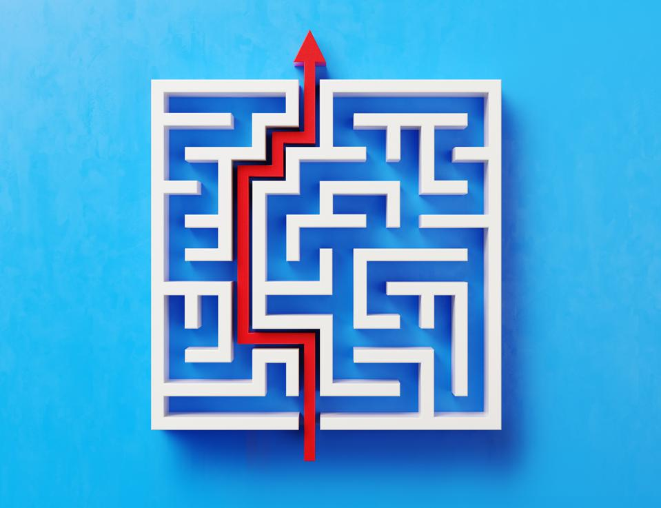 The image shows a maze with a clear path because investments during elections are clear.