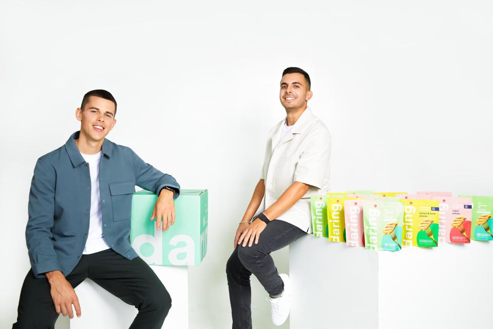 Ross Mackay and Eliott Kessas, Cofounders of plant based chicken startup daring recently raised $8 million from investors.