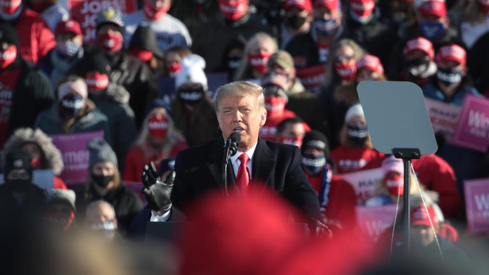 Donald Trump Holds Campaign Rally In Green Bay Four Days Ahead Of Election