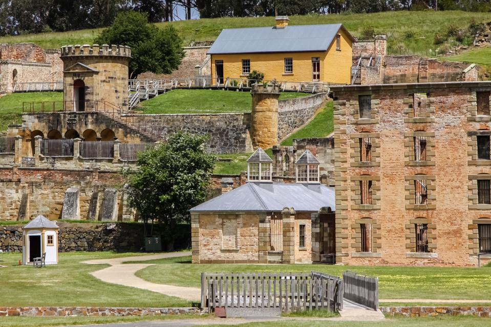 Historic buildings at the Port Arthur UNESCO World Heritage Site in Tasmania.
