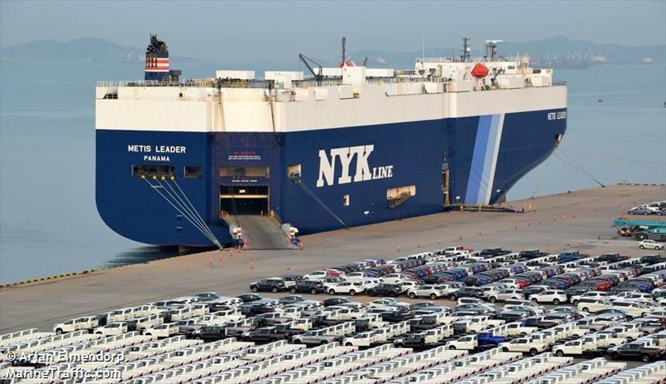 Japanese giant, NYK-owned Metis Leader car carrier