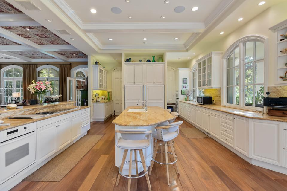 KISS, Gene Simmons, island kitchen, California, luxury, real estate,