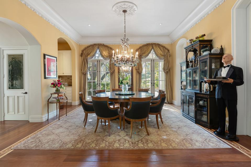 KISS, Gene Simmons, formal dining room, California, luxury, real estate