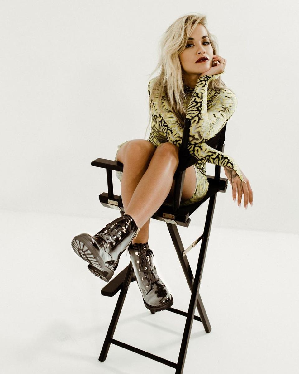 Rita Ora rocks her ShoeDazzle collection.