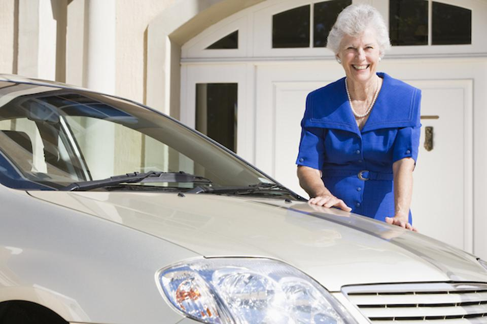 Living beyond her means-buying a new car