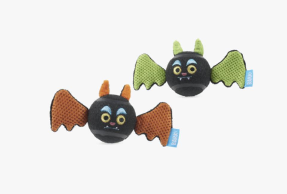 Halloween bat-themed dog toys