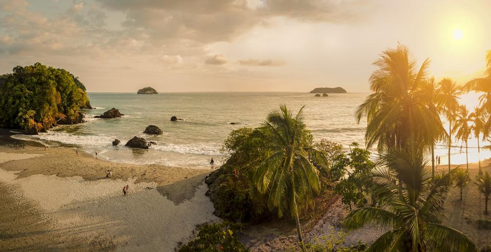 Beach Corcovado National Park Costa Rica COVID-19 travel pandemic no restrictions