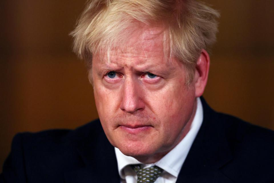 Boris Johnson Holds Virtual Press Conference