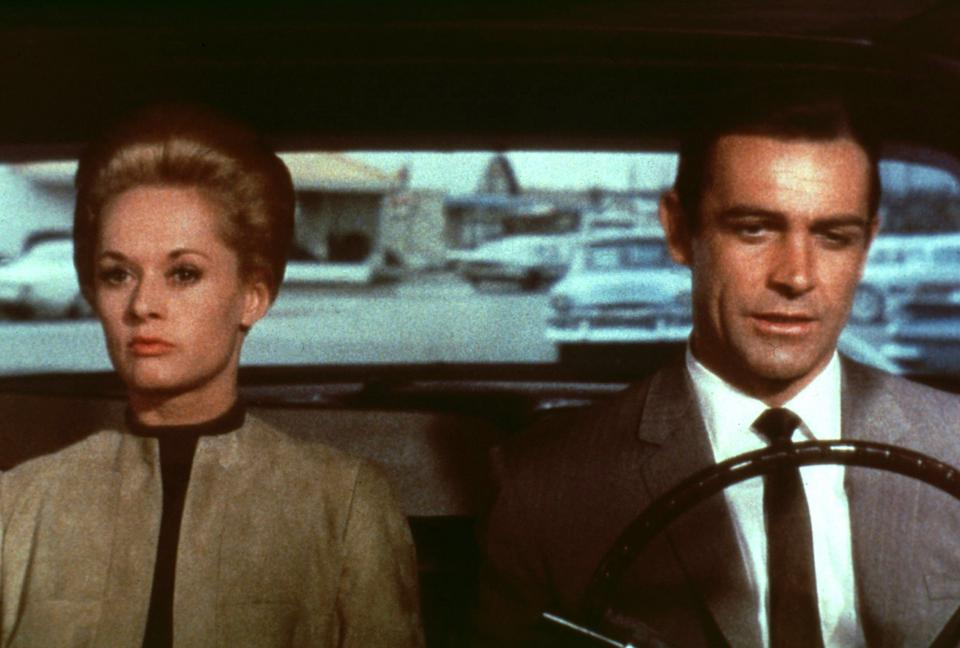 Tippi Hedren and Sean Connery in Hitchcock's 'Marnie'